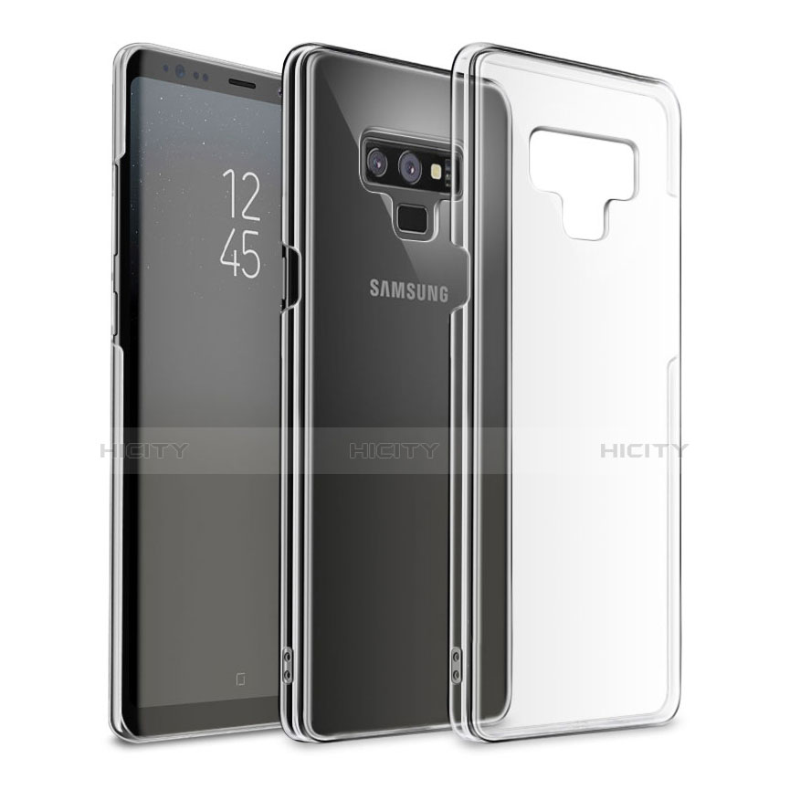 Silikon Schutzhülle Ultra Dünn Tasche Durchsichtig Transparent T09 für Samsung Galaxy Note 9 Schwarz groß