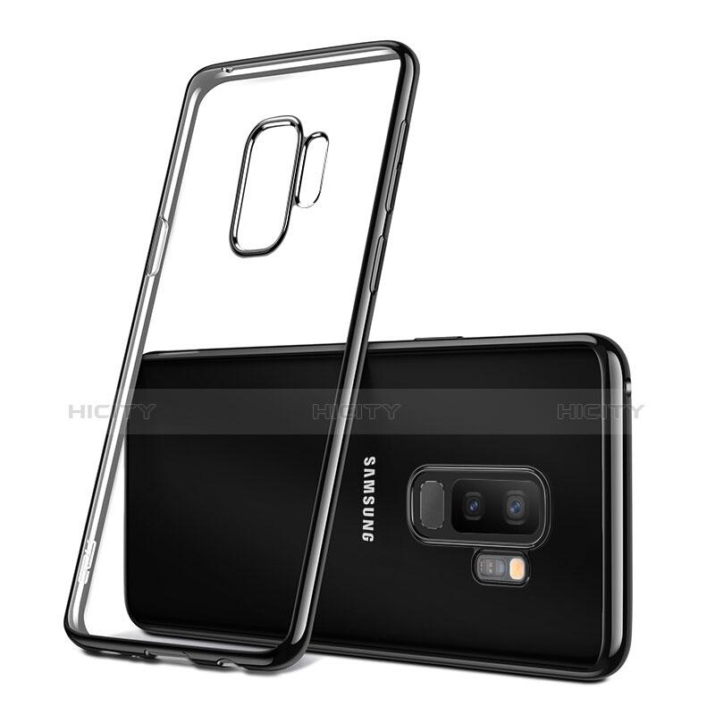 Silikon Schutzhülle Ultra Dünn Tasche Durchsichtig Transparent T09 für Samsung Galaxy S9 Plus Schwarz Plus