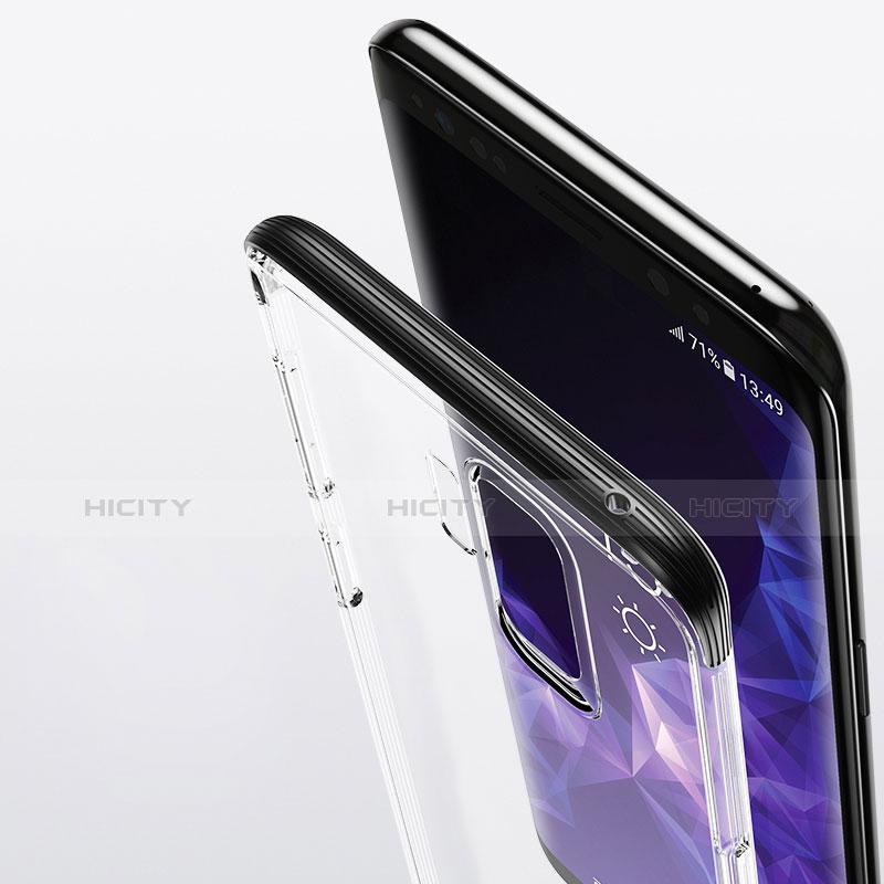Silikon Schutzhülle Ultra Dünn Tasche Durchsichtig Transparent T11 für Samsung Galaxy S9 Plus Schwarz Plus