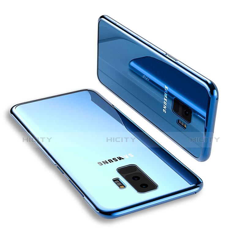 Silikon Schutzhülle Ultra Dünn Tasche Durchsichtig Transparent T12 für Samsung Galaxy S9 Plus Blau Plus