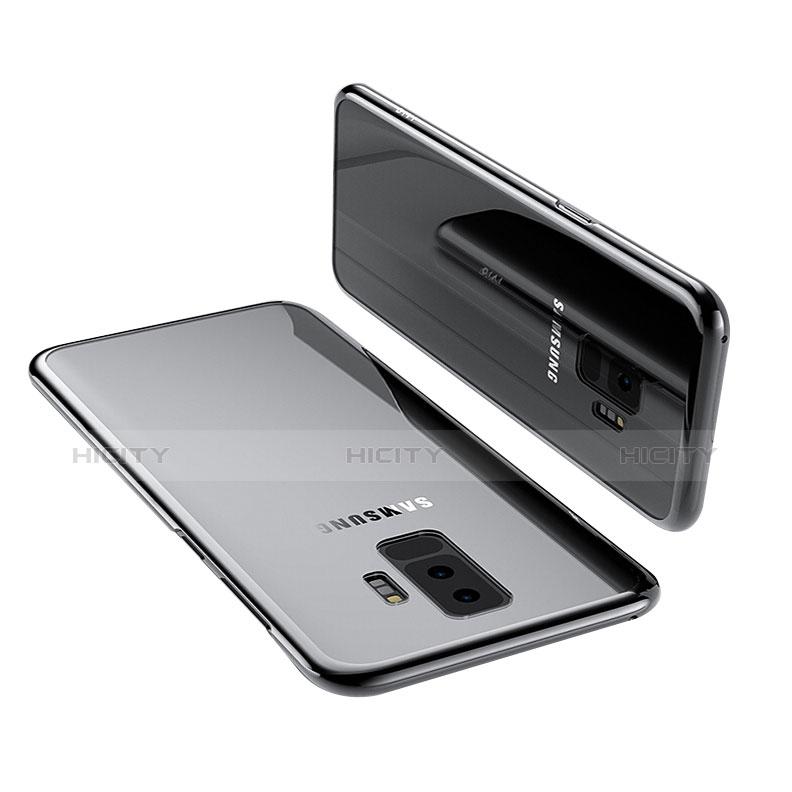 Silikon Schutzhülle Ultra Dünn Tasche Durchsichtig Transparent T12 für Samsung Galaxy S9 Plus Schwarz Plus