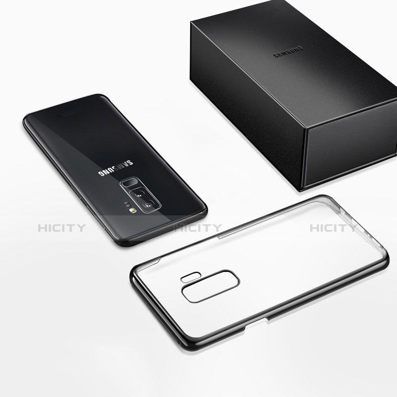 Silikon Schutzhülle Ultra Dünn Tasche Durchsichtig Transparent T12 für Samsung Galaxy S9 Plus Schwarz groß