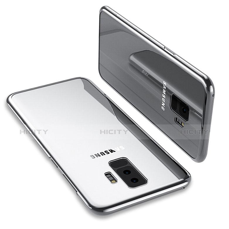 Silikon Schutzhülle Ultra Dünn Tasche Durchsichtig Transparent T12 für Samsung Galaxy S9 Plus Silber Plus