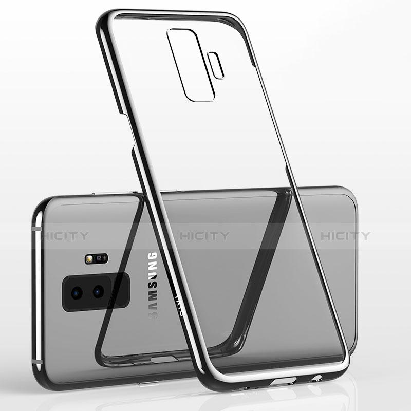 Silikon Schutzhülle Ultra Dünn Tasche Durchsichtig Transparent T12 für Samsung Galaxy S9 Plus Silber groß
