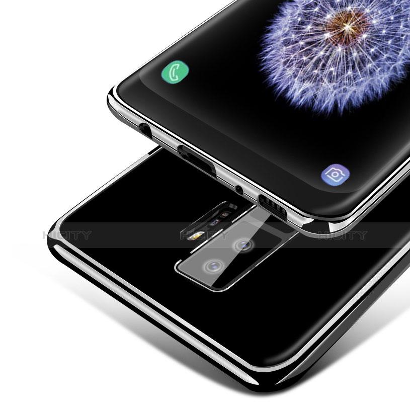 Silikon Schutzhülle Ultra Dünn Tasche Durchsichtig Transparent T15 für Samsung Galaxy S9 Plus Schwarz Plus