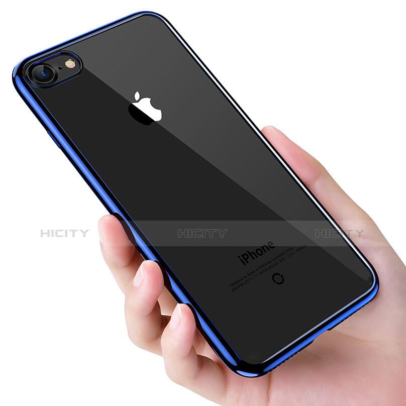 Silikon Schutzhülle Ultra Dünn Tasche Durchsichtig Transparent T16 für Apple iPhone 6S Blau groß