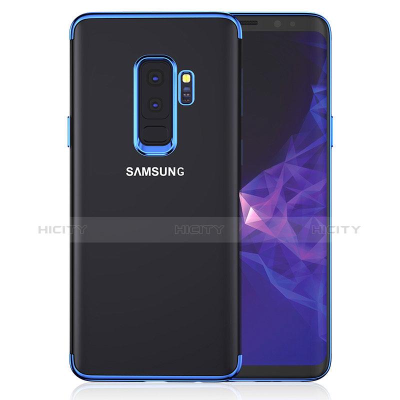 Silikon Schutzhülle Ultra Dünn Tasche Durchsichtig Transparent T16 für Samsung Galaxy S9 Plus Blau Plus