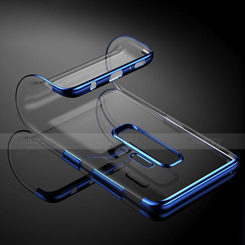Silikon Schutzhülle Ultra Dünn Tasche Durchsichtig Transparent T16 für Samsung Galaxy S9 Plus Blau groß