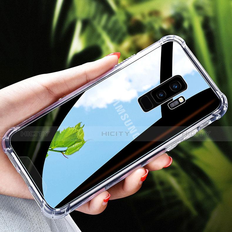 Silikon Schutzhülle Ultra Dünn Tasche Durchsichtig Transparent T17 für Samsung Galaxy S9 Plus Klar groß