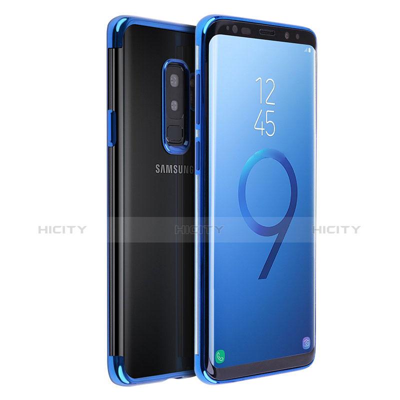 Silikon Schutzhülle Ultra Dünn Tasche Durchsichtig Transparent T18 für Samsung Galaxy S9 Plus Blau Plus