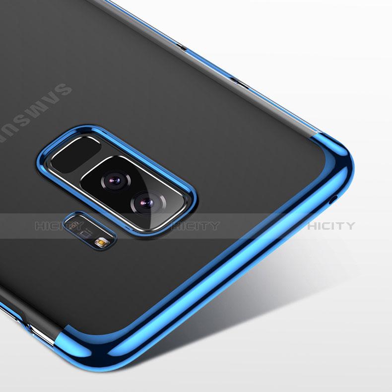 Silikon Schutzhülle Ultra Dünn Tasche Durchsichtig Transparent T18 für Samsung Galaxy S9 Plus Blau groß