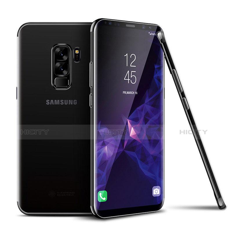 Silikon Schutzhülle Ultra Dünn Tasche Durchsichtig Transparent T18 für Samsung Galaxy S9 Plus Schwarz groß