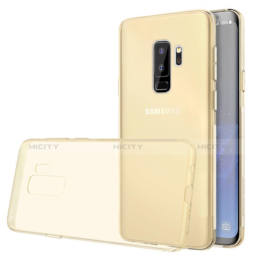 Silikon Schutzhülle Ultra Dünn Tasche Durchsichtig Transparent T20 für Samsung Galaxy S9 Plus Gold groß