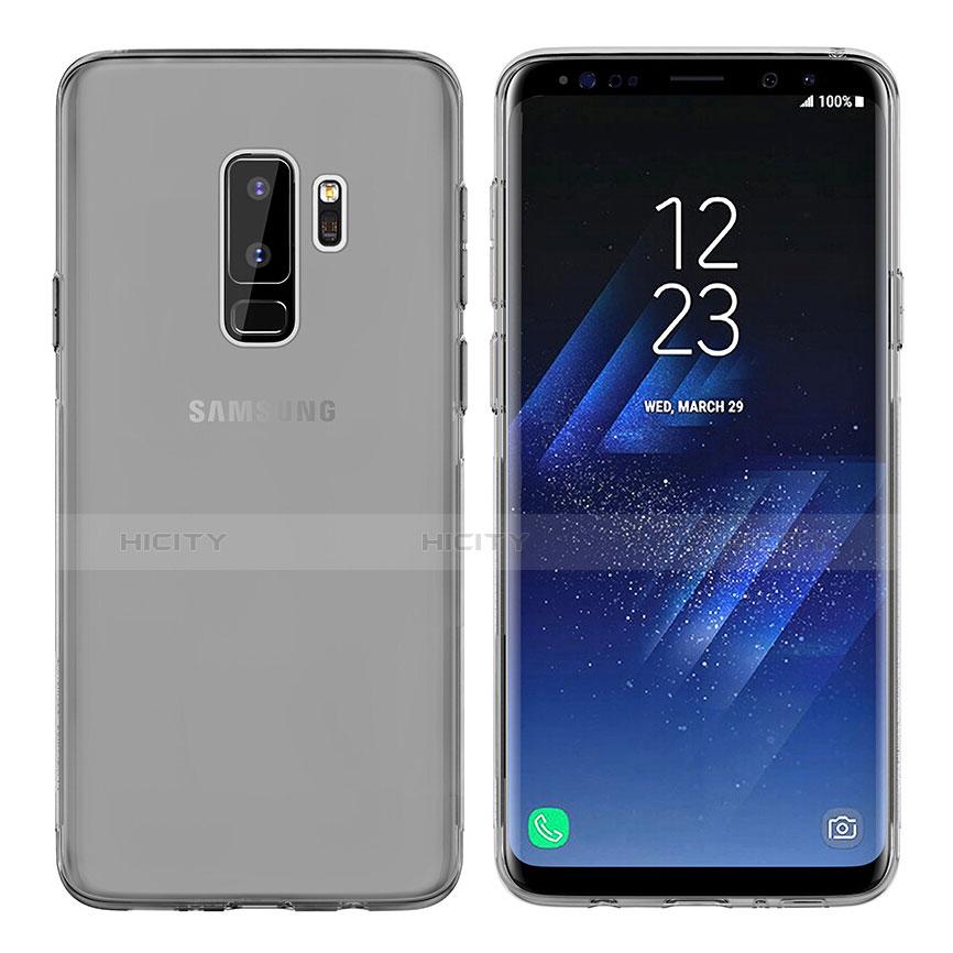 Silikon Schutzhülle Ultra Dünn Tasche Durchsichtig Transparent T20 für Samsung Galaxy S9 Plus Grau Plus