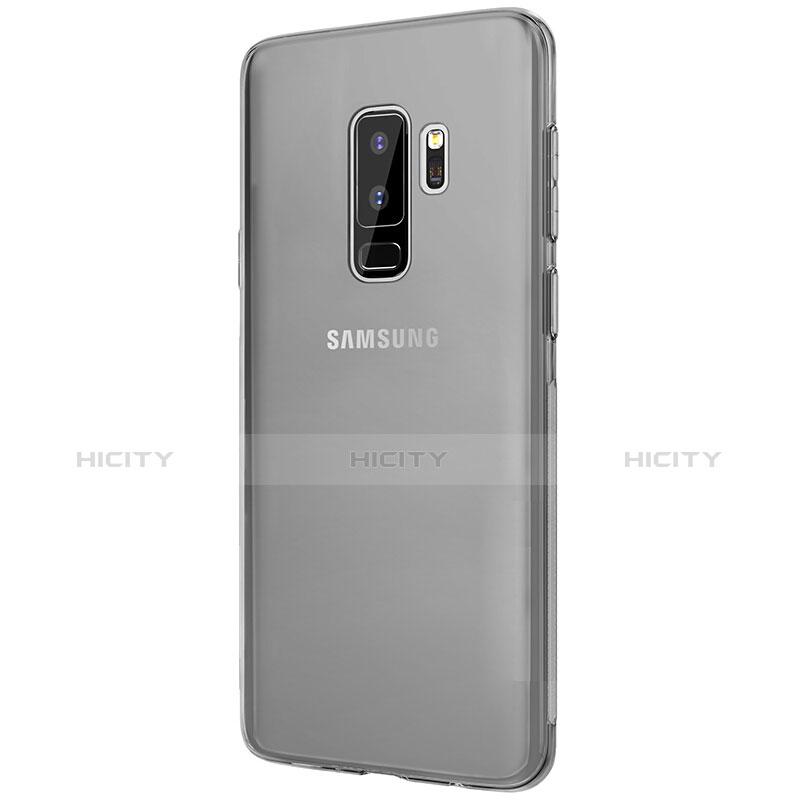 Silikon Schutzhülle Ultra Dünn Tasche Durchsichtig Transparent T20 für Samsung Galaxy S9 Plus Grau groß