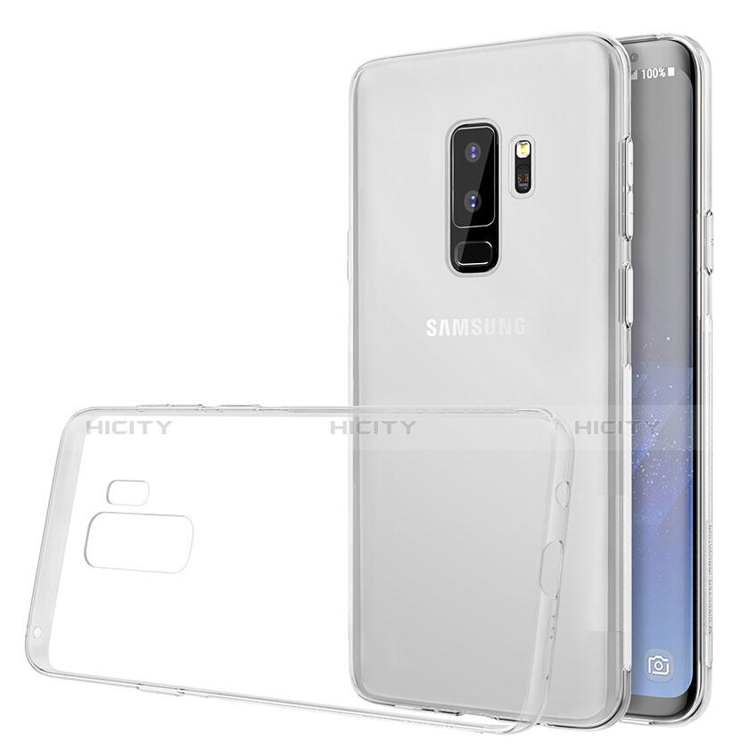 Silikon Schutzhülle Ultra Dünn Tasche Durchsichtig Transparent T20 für Samsung Galaxy S9 Plus Weiß groß