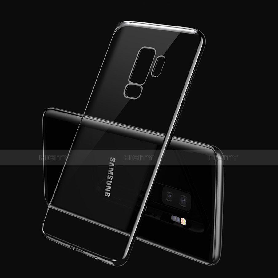 Silikon Schutzhülle Ultra Dünn Tasche Durchsichtig Transparent T21 für Samsung Galaxy S9 Plus Blau groß