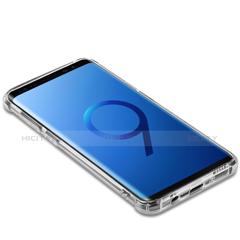 Silikon Schutzhülle Ultra Dünn Tasche Durchsichtig Transparent T22 für Samsung Galaxy S9 Plus Klar groß