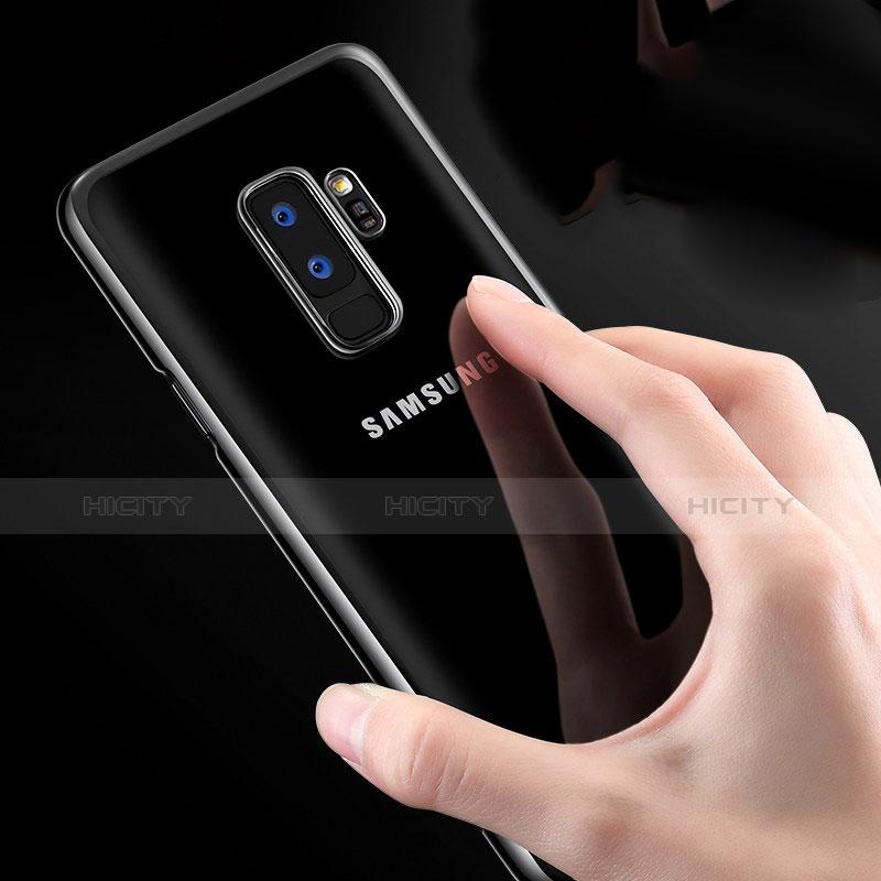 Silikon Schutzhülle Ultra Dünn Tasche Durchsichtig Transparent T23 für Samsung Galaxy S9 Plus Weiß Plus