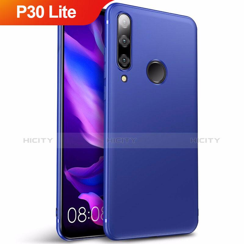Silikon Schutzhülle Ultra Dünn Tasche S03 für Huawei P30 Lite Blau Plus