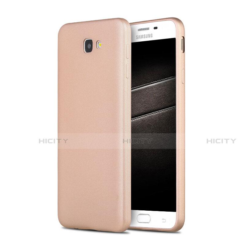 Silikon Schutzhülle Ultra Dünn Tasche S03 für Samsung Galaxy J7 Prime Gold Plus