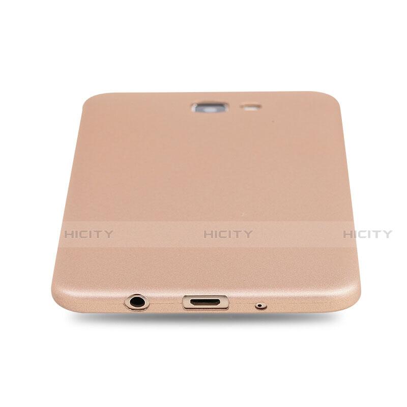 Silikon Schutzhülle Ultra Dünn Tasche S03 für Samsung Galaxy J7 Prime Gold groß