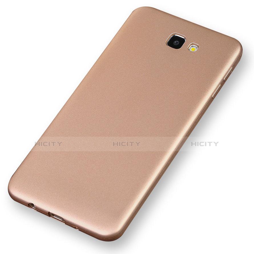 Silikon Schutzhülle Ultra Dünn Tasche S03 für Samsung Galaxy On7 (2016) G6100 Gold groß