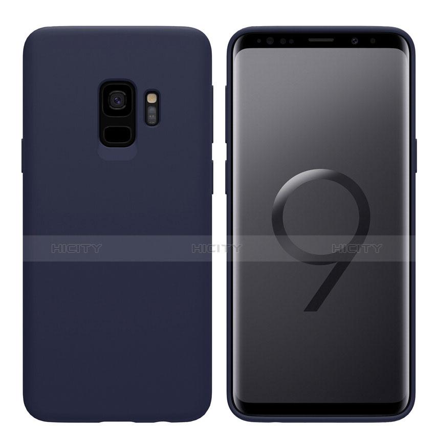 Silikon Schutzhülle Ultra Dünn Tasche S03 für Samsung Galaxy S9 Blau Plus