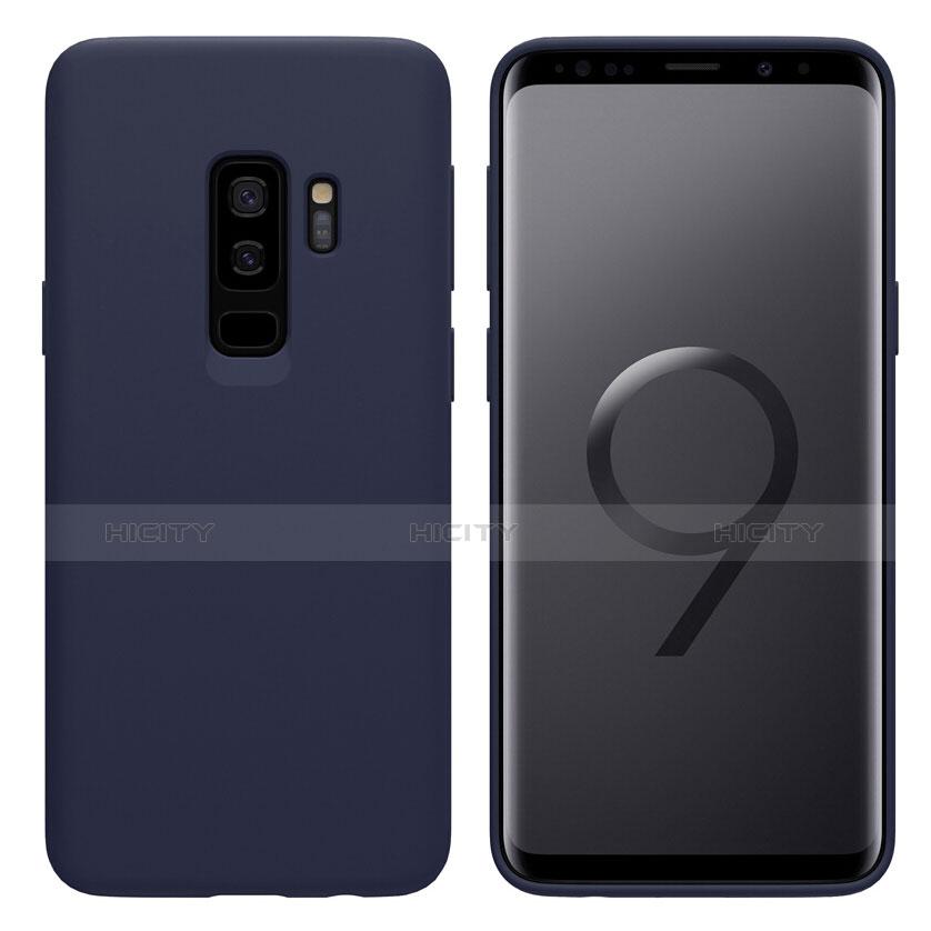 Silikon Schutzhülle Ultra Dünn Tasche S03 für Samsung Galaxy S9 Plus Blau Plus