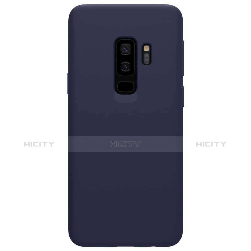 Silikon Schutzhülle Ultra Dünn Tasche S03 für Samsung Galaxy S9 Plus Blau groß