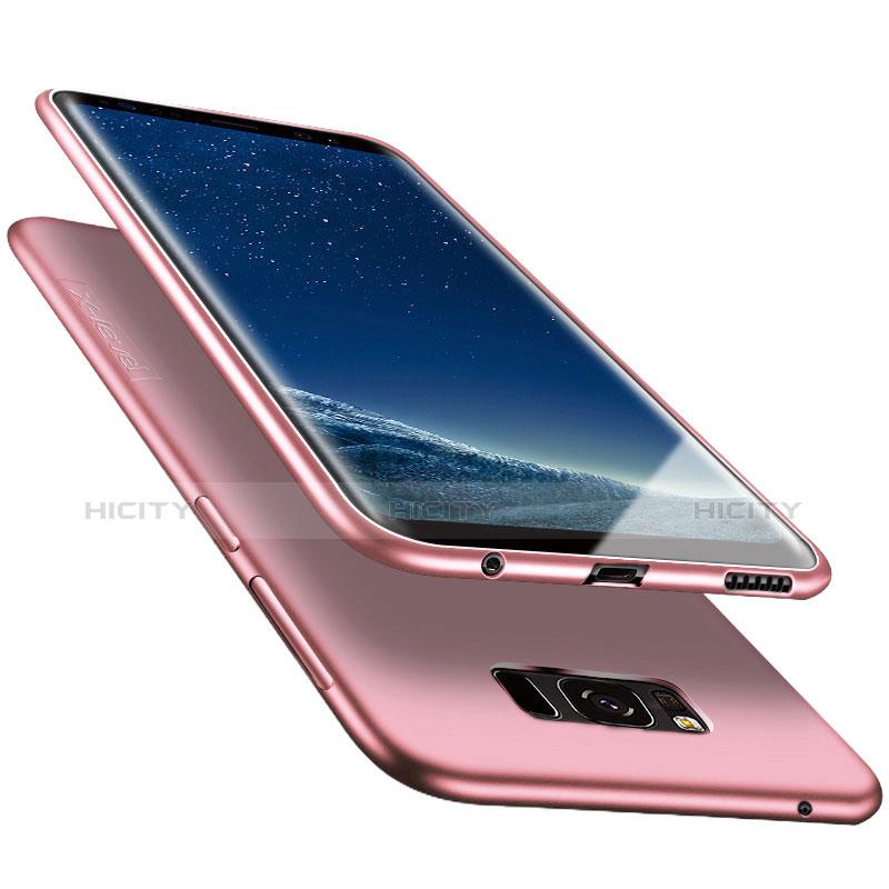 Silikon Schutzhülle Ultra Dünn Tasche S06 für Samsung Galaxy S8 Plus Rosa groß