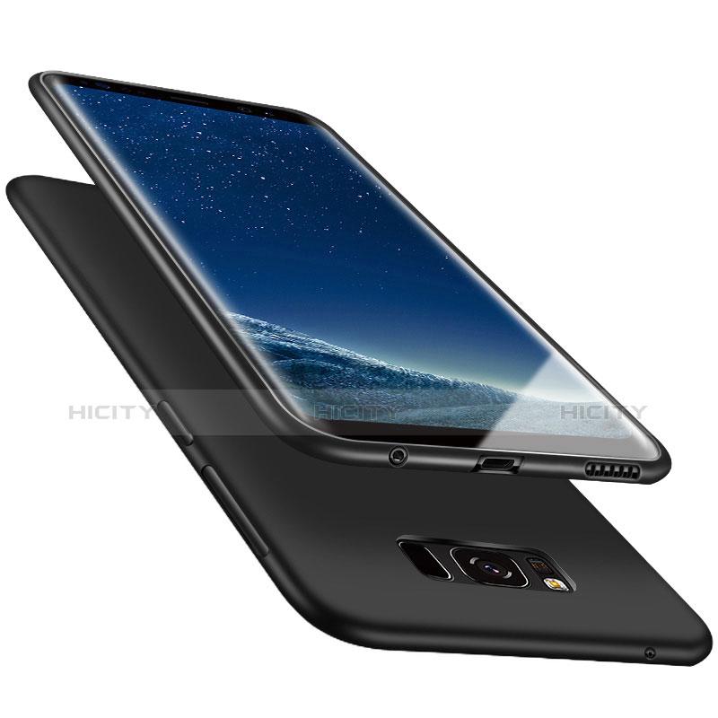 Silikon Schutzhülle Ultra Dünn Tasche S06 für Samsung Galaxy S8 Plus Schwarz groß