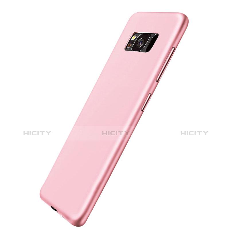 Silikon Schutzhülle Ultra Dünn Tasche S06 für Samsung Galaxy S8 Rosa groß