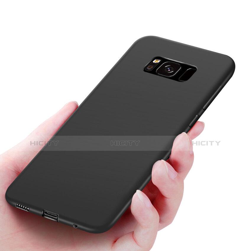 Silikon Schutzhülle Ultra Dünn Tasche S06 für Samsung Galaxy S8 Schwarz Plus