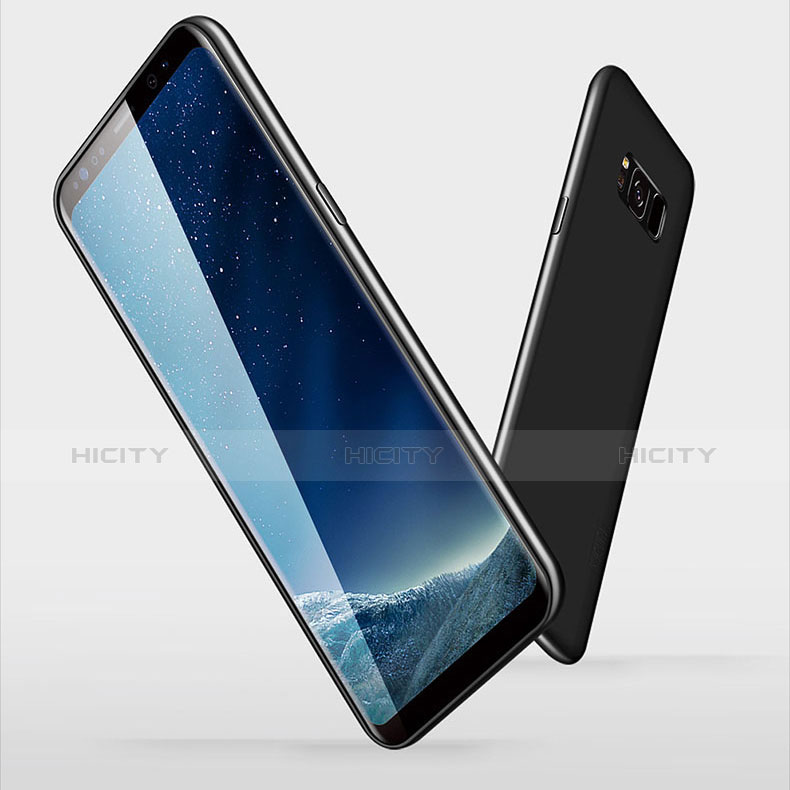 Silikon Schutzhülle Ultra Dünn Tasche S06 für Samsung Galaxy S8 Schwarz groß
