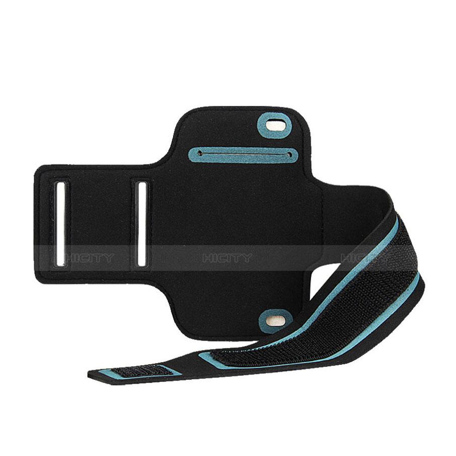 Sport Armband Handytasche Sportarmband Laufen Joggen Universal B02 Schwarz groß