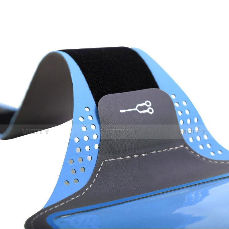 Sport Armband Handytasche Sportarmband Laufen Joggen Universal B16 Blau groß