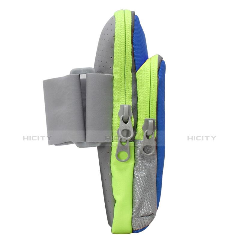 Sport Armband Handytasche Sportarmband Laufen Joggen Universal B22 Blau groß