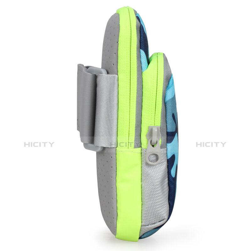 Sport Armband Handytasche Sportarmband Laufen Joggen Universal B23 Blau groß