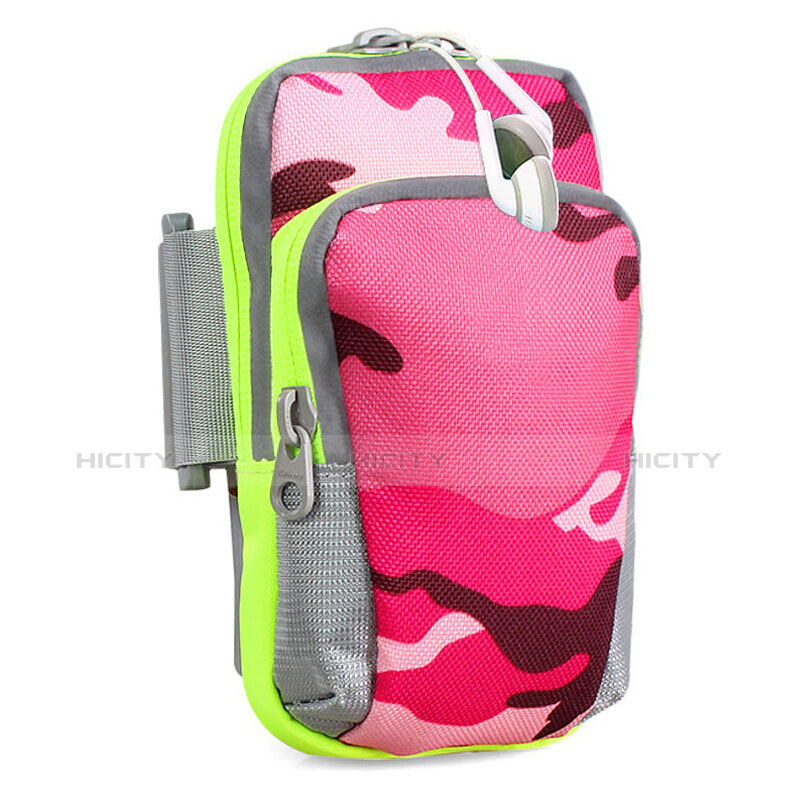 Sport Armband Handytasche Sportarmband Laufen Joggen Universal B23 Pink Plus