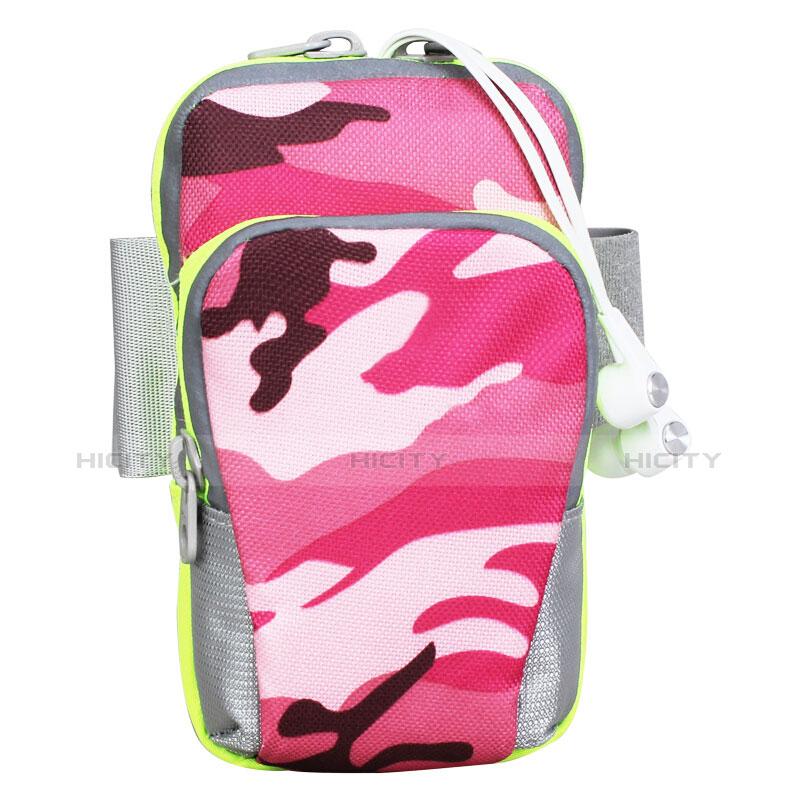 Sport Armband Handytasche Sportarmband Laufen Joggen Universal B23 Pink groß