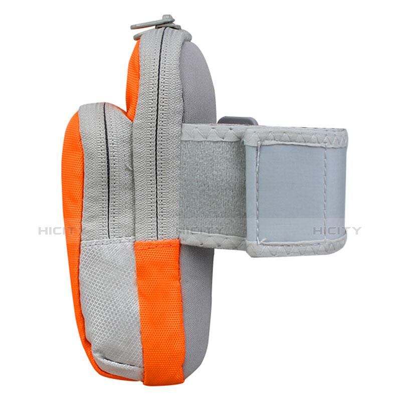 Sport Armband Handytasche Sportarmband Laufen Joggen Universal B24 Orange groß