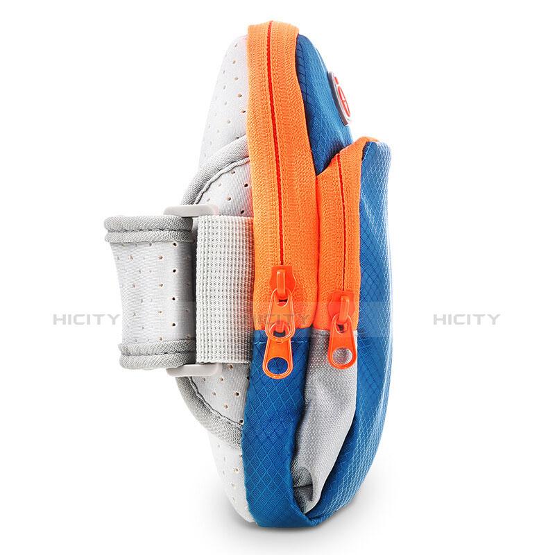 Sport Armband Tasche Sportarmband Laufen Joggen Diamant Universal B01 Blau groß
