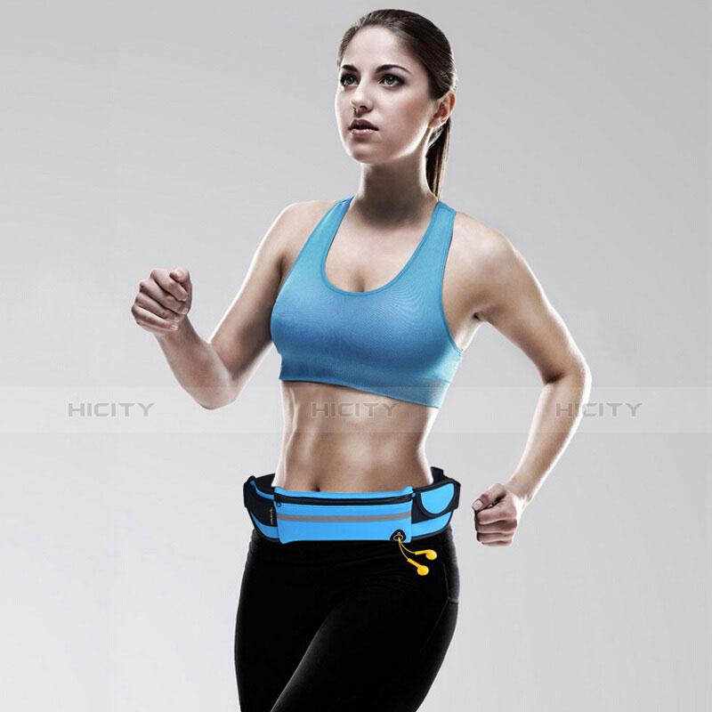 Sport Quertasche Schutz Hülle Laufen Joggen Universal B31 Hellblau groß