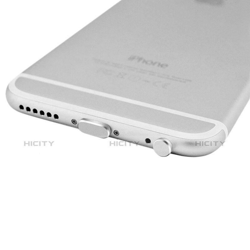 Staubschutz Stöpsel Passend Lightning USB Jack J01 für Apple iPhone 11 Pro Max Silber groß