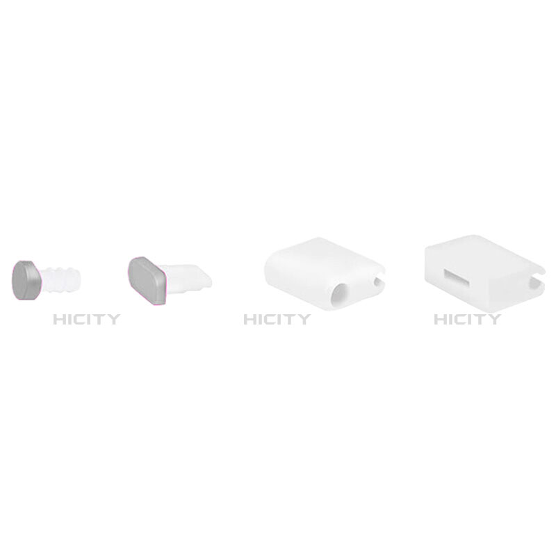 Staubschutz Stöpsel Passend Lightning USB Jack J02 für Apple iPhone 11 Pro Silber groß