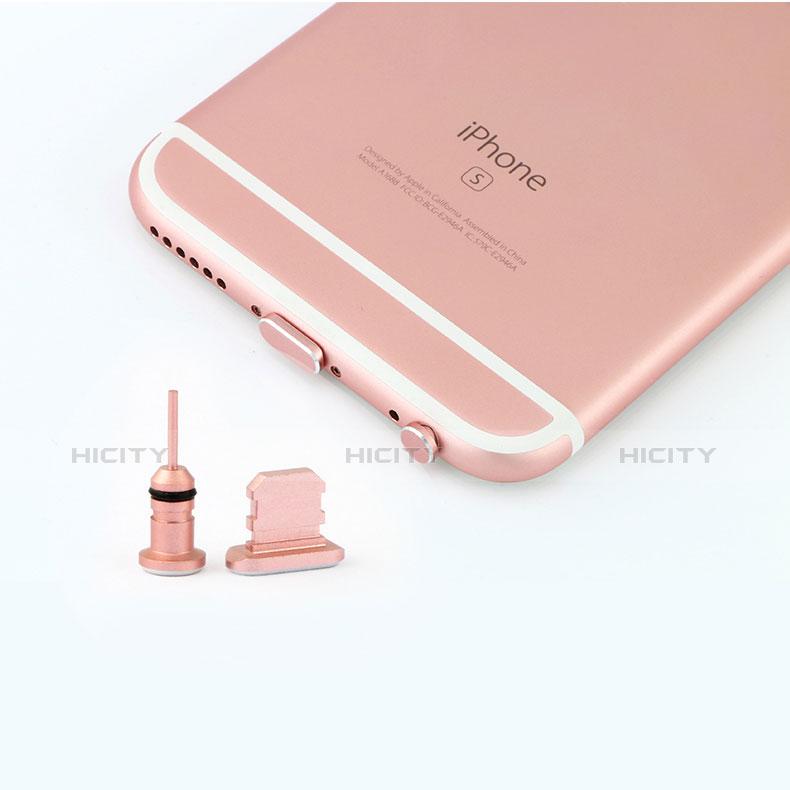 Staubschutz Stöpsel Passend Lightning USB Jack J04 für Apple iPhone 11 Pro Max Rosegold groß