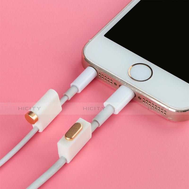 Staubschutz Stöpsel Passend Lightning USB Jack J05 für Apple iPhone 11 Pro Silber