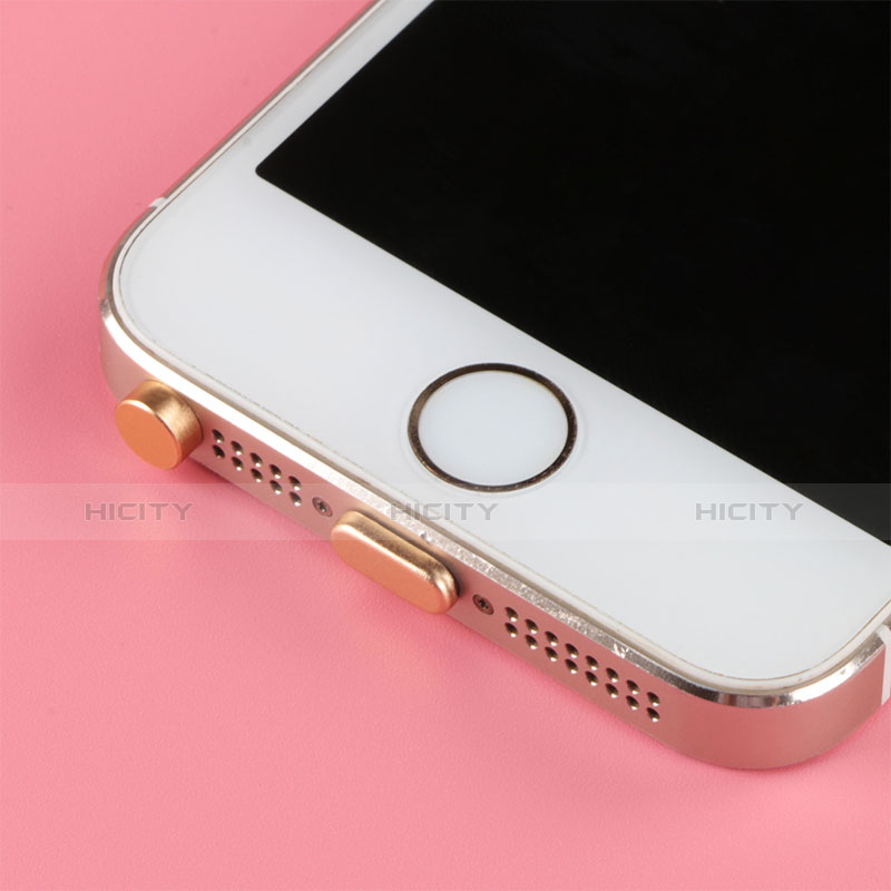 Staubschutz Stöpsel Passend Lightning USB Jack J05 für Apple iPhone 11 Rosegold