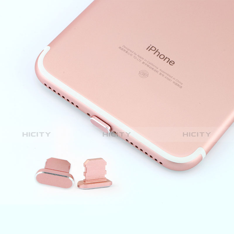 Staubschutz Stöpsel Passend Lightning USB Jack J06 für Apple iPhone 11 Rosegold groß